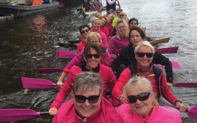 Jubiläum der Pink Pearls: 5 Jahre Paddeln gegen Brustkrebs