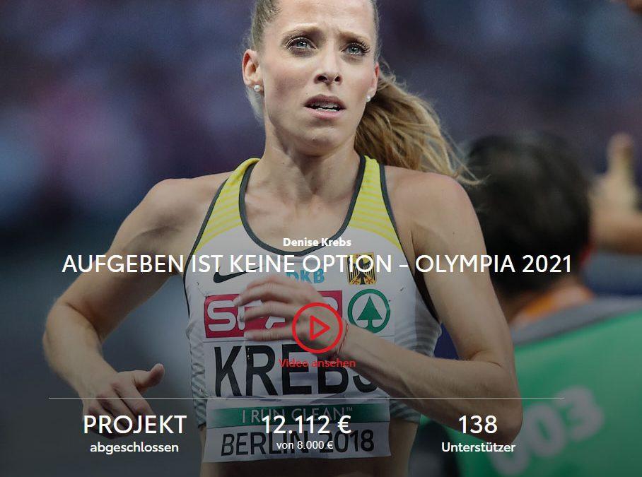 Crowdfunding-Projekt von Denise Krebs: 12.112 Euro für den Weg nach Tokio