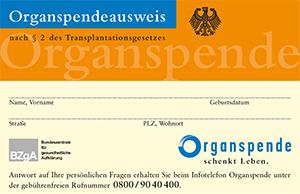 Download Organspendeausweis