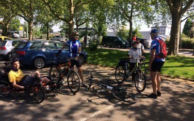 Gemeinsame Fahrradgruppe von RSG Heilbronn und Offenen Hilfen
