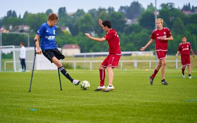 U15 des FC Union trainiert mit der Amputierten-Nationalmannschaft